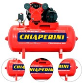 COMPRESSOR DE AR RED 10 PÉS 100L 140PSI 2HP BIVOLT 000019195 CHIAPERINI