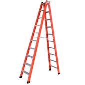 Escada Tesoura Alumínio/fibra 3,00m 10 Degraus Tafd10 Wbertolo